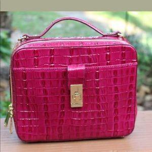 NWT $265 Brahmin Evie Fuchsia La Scala Deep Pink